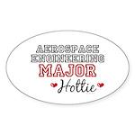 Aerospace Engineering Major Hottie Oval Sticker