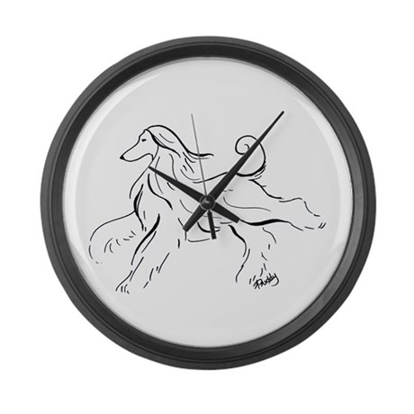 Afghan Hound Large Wall Clock