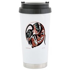 Eagle Wolf Yin-Yang Travel Mug