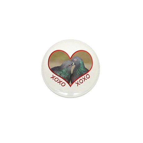 Pigeon Hugs and Kisses Mini Button