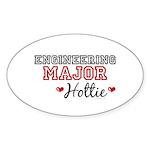 Engineering Major Hottie Oval Sticker (10 pk)