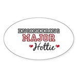 Engineering Major Hottie Oval Sticker (50 pk)