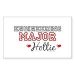 Engineering Major Hottie Rectangle Sticker