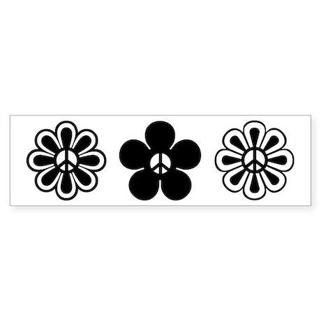 Peace Flowers Bumper Sticker