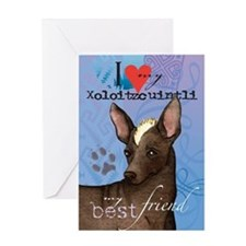 Xoloitzcuintli Greeting Card