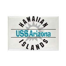 USS Arizona Hawaii Rectangle Magnet