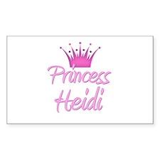Princess Heidi Rectangle Decal