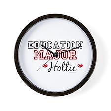 Education Major Hottie Wall Clock