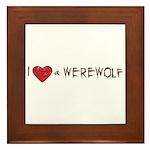 I Love a Werewolf Twilight Framed Tile