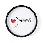 I Love a Werewolf Twilight Wall Clock