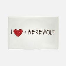 I Love a Werewolf Twilight Rectangle Magnet
