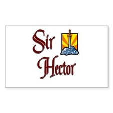 Sir Hector Rectangle Decal