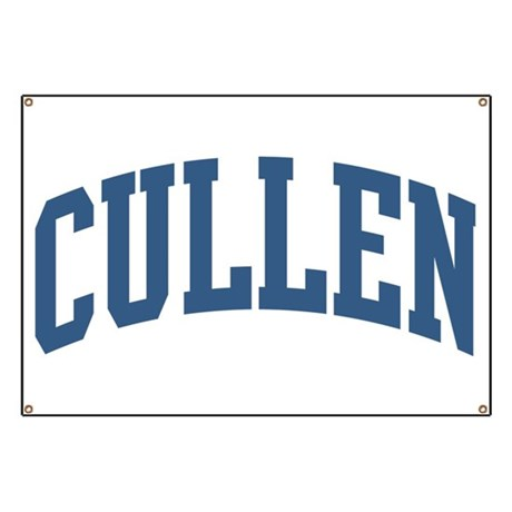 Cullen Collegiate Style Name Banner