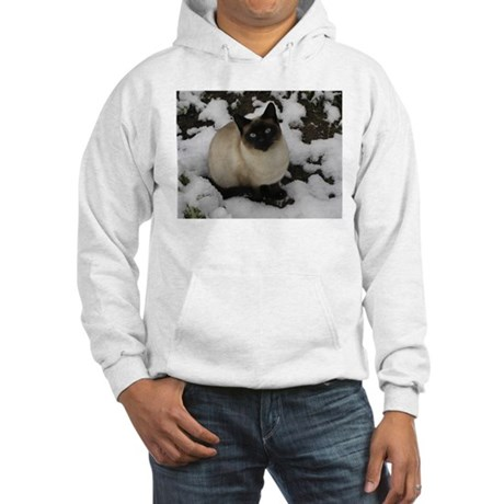 Siamese Snow Cat Hooded Sweatshirt