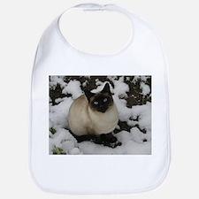Siamese Snow Cat Bib