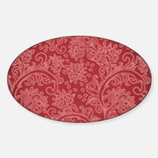 Paisley Damask Red Vintage Pattern Stickers