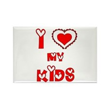 I love my kids Rectangle Magnet