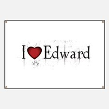 Twilight I Love Edward Banner