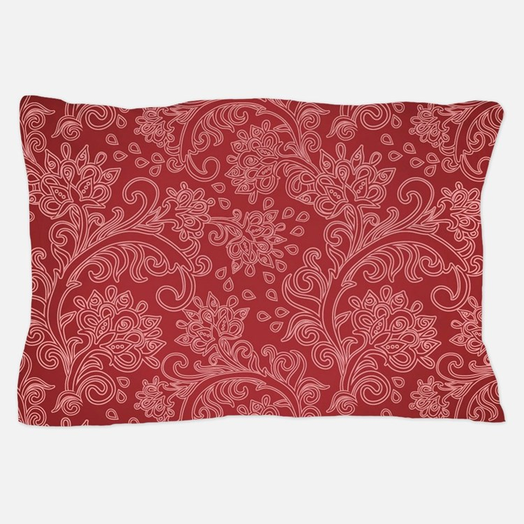Cafe Au Lait Bedroom With Damask Wallpaper: Paisley Duvet Covers, Pillow Cases & More