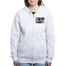 Siamese Snow Cat Zip Hoodie