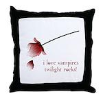 Twilight I Love Vampires Throw Pillow