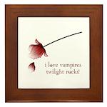 Twilight I Love Vampires Framed Tile