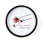 Twilight I Love Vampires Wall Clock
