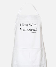 I Run With Vampires BBQ Apron