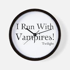I Run With Vampires Wall Clock