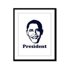 President Obama Framed Panel Print