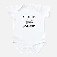 Eat ... Sleep ... JACKRABBITS Infant Bodysuit