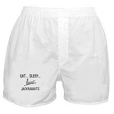 Eat ... Sleep ... JACKRABBITS Boxer Shorts