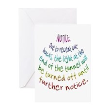 Notice Greeting Card