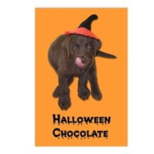 Halloween Chocolate Lab Postcards (Package of 8)