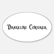 Drakeling Conjurer Oval Decal