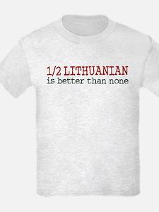 Half Lithuanian T-Shirt