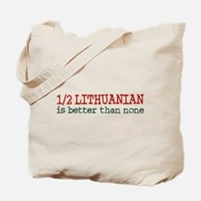 Half Lithuanian Tote Bag