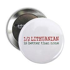 "Half Lithuanian 2.25"" Button"