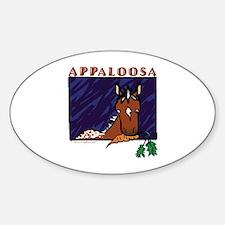 Appaloosa Horse Oval Decal