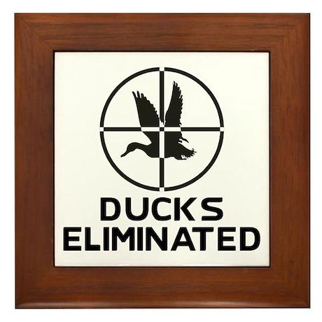 Ducks Eliminated Framed Tile