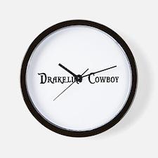 Drakeling Cowboy Wall Clock