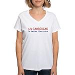 Half Cambodian Women's V-Neck T-Shirt