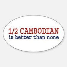 Half Cambodian Oval Decal