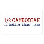 Half Cambodian Rectangle Sticker