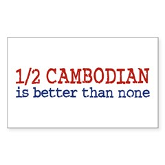 Half Cambodian Rectangle Decal