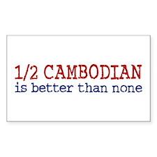 Half Cambodian Rectangle Sticker 10 pk)