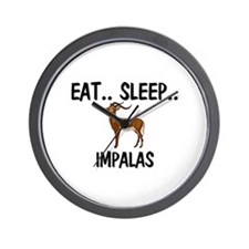 Eat ... Sleep ... IMPALAS Wall Clock