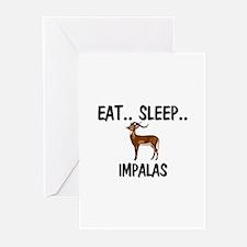 Eat ... Sleep ... IMPALAS Greeting Cards (Pk of 10