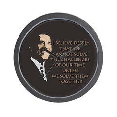 Obama: Solving Problems Wall Clock
