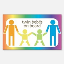 Twin Bebes Rectangle Decal